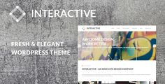 Interactive - Elegant & Creative WordPress Theme . Interactive has features such as High Resolution: Yes, Widget Ready: Yes, Compatible Browsers: IE9, IE10, IE11, Firefox, Safari, Opera, Chrome, Software Version: WordPress 4.1, Columns: 4+