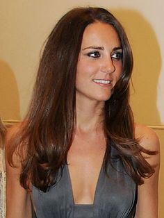 A more straight and sleek style than usual. #katemiddleton #royals #hair