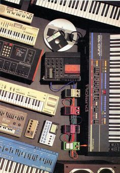 Old keyboards and kit always looks good. Retro has that graphic pop that new kit doesn't.