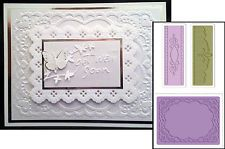 Sizzix 656989 Textured Impressions Embossing Folders 2-Pack Multicolor Ornate Frames Set by Rachael Bright