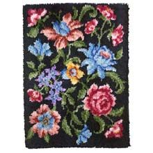 evening blossoms latch hook rug
