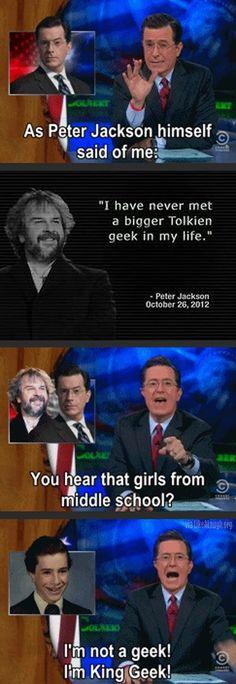 Peter Jackson about Stephen Colbert