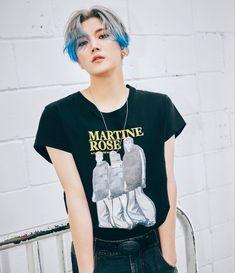Album 3 > Ren < Facial Piercings, T Dress, Nu Est, Pledis Entertainment, Blue Hair, New Day, Different Styles, Actors & Actresses, Handsome