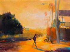 "Saatchi Art Artist Natalia Baykalova; Painting, ""Walking home"" #art"