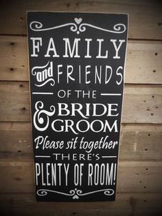 Wedding Sign - Please Pick A Seat, Not A Side, Family and Friends Sit Together | Country | Primitive | Rustic | Hand Painted | Etsy