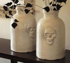 Skull Ceramic Vase #potterybarn