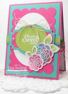 Sweet Roses; Roses and Leaves Die-namics; Layered Labels Die-namics; Blueprints 1 Die-namics; Blueprints 2 Die-namics; Open Simply Scallops Trio Die-namics - Tara Godfrey