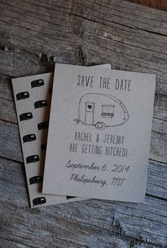 Retro Wedding Save the Date 3 Styles Available by postscripts, $1.25