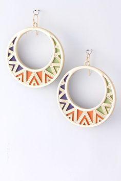 {Patterned Hoop Trendy Earrings}