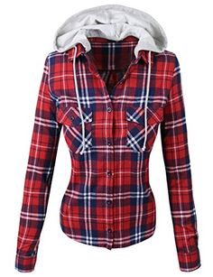 makeitmint Women's Plaid Button Down Shirt Blouse w/ Detachable Hood Small YIS0005_Red makeitmint http://www.amazon.com/dp/B014S21LAS/ref=cm_sw_r_pi_dp_Pqenwb0RHAJ1R