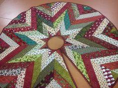 pie de arbol navideño patchwork - Buscar con Google