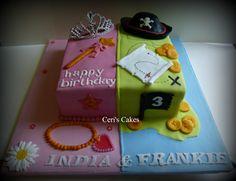 princess and pirates cake Double Birthday Parties, Twin Birthday, Pirate Birthday, Birthday Ideas, Birthday Stuff, Pirate Party, Castle Birthday Cakes, Themed Birthday Cakes, Castle Party