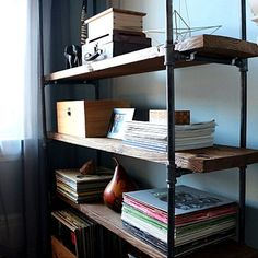 How to Make a Freestanding Industrial Pipe Bookcase   eHow Home   eHow