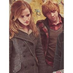 Hermione Granger and Ron Weasley ❤ liked on Polyvore featuring harry potter