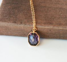 Long Necklace,Gold Necklace,Dainty Necklace,Layering Necklace,Delicate Gold Necklace,Amethyst Necklace,Purple Necklace  https://www.etsy.com/listing/171329299/long-necklacegold-necklacedainty