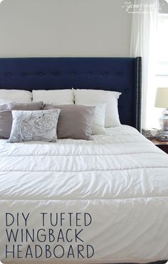 DIY Projects | Find out how to make your own stunning tufted wingback headboard for just over $100!