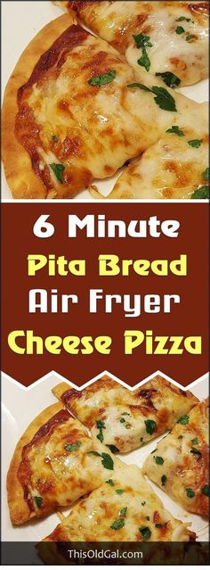 Air Fryer 6 Minute Pita Bread Cheese Pizza with Pepperoni, Onions, Garlic, Sausage is perfect when you want to make a quick lunch or snack. via This Old Gal pizza Nuwave Air Fryer, Cooks Air Fryer, Pain Pita, Sauce Pizza, Actifry Recipes, Air Fryer Oven Recipes, Power Air Fryer Recipes, Air Fryer Recipes Vegetables, Air Fryer Dinner Recipes