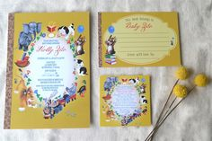 Little Golden Book Baby Shower Invites