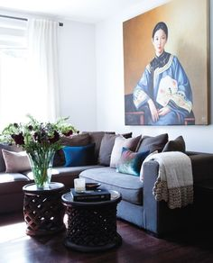 Asian-Inflected Living Room | photo Ashley Tonner | design Danielle Nicholas | House & Home