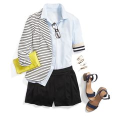 """LOVE the striped blazer! Schoolboy-inspired blazers are the """"it"""" layer for fall. Request one for extra pep (& prep) in your step. Cute Blazers, Blazer For Boys, Stitch Fit, Stitch Fix Outfits, Striped Blazer, Striped Jacket, Stitch Fix Stylist, Personal Stylist, Cute Outfits"""