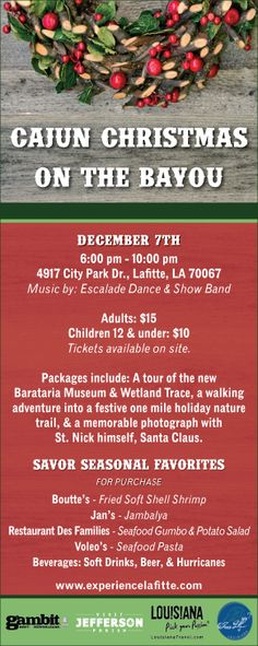 Jean Lafitte Cajun Christmas On the Bayou