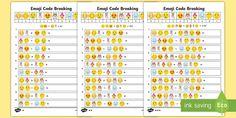 * NEW * KS2 Emoji Code Breaking Activity Sheets
