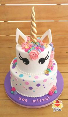 7 Birthday Cake Ideas Inspired by Fantasy Fictions (Geeky but Delicious Birthday is a special day for everyone, and a perfect cake will seal the deal. Fantasy fictions create some of the best birthday cake ideas. Unicorne Cake, Cupcake Cakes, 7th Birthday Cakes, Unicorn Birthday Cakes, Unicorn Party, Birthday Ideas, Savoury Cake, Party Cakes, Theme Cakes