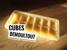 démouler facilement ses gateaux : mes cubes demoultout - recettes de cuisine avec Thermomix ou pas Cubes, Base, Vinaigrette, Work On Yourself, Desserts, Sprays, Budget Cooking, Cooking Recipes, Canola Oil