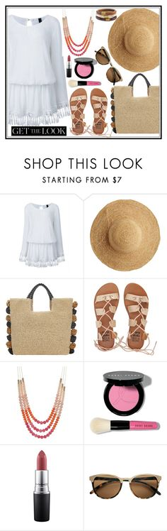 """""""No money? No problem"""" by kleinwillwin ❤ liked on Polyvore featuring Flora Bella, John Lewis, Billabong, Bobbi Brown Cosmetics, MAC Cosmetics and Chico's"""