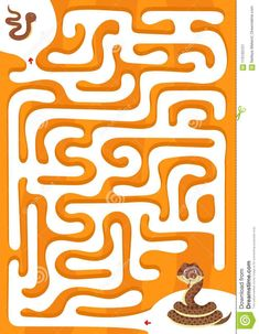 Illustration about Help snake find the son. Maze game for kids - worksheet for education. Illustration of labyrinth, game, homework - 115155121 Maze Games For Kids, Snake Game, Worksheets For Kids, Labyrinth Game, Sons, Cartoon, Education, Homework, Illustration