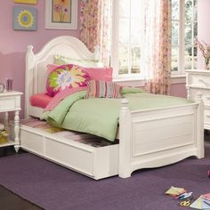 Hannah Panel Bed with Trundle - $1069.65