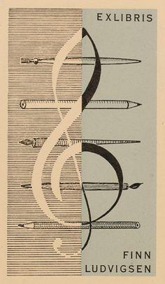 Art-exlibris.net - exlibris by Finn Ludvigsen for Finn Ludvigsen