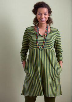 Basic-Streifenkleid aus Öko-Baumwolle