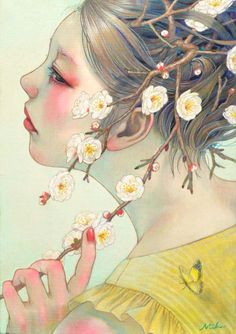 Beauties of Nature – Les peintures sensuelles et délicates de Miho Hirano