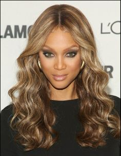 Tyra Banks Hair Color Tyra Banks Hair Color 165674 Tyra Banks Hairstyle Lace Wig Human Hair About 20 Inches Wavy Curly Prom Hair, Prom Hairstyles For Long Hair, Long Wavy Hair, Wig Hairstyles, Curly Hair Styles, Wave Hairstyle, Simple Hairstyles, Long Curly, Stylish Hairstyles