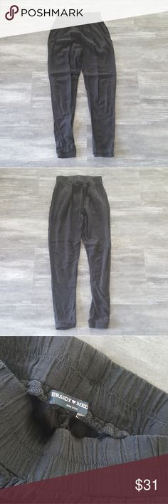 Black Melville High Waisted Harem Pant Worn Once Brandy Melville Pants Trousers