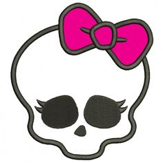 Looks Like Skull from Monster High Applique Machine Embroidery Digitized Design Pattern #embroidery #machineembroidery #applique #digitized #needlework #sew #patterns #skull #monster Monster High Party, Cumple Monster High, Monster High Birthday, Monster High Dolls, Skull Color, Personajes Monster High, Fete Halloween, Baby Halloween, Appliques