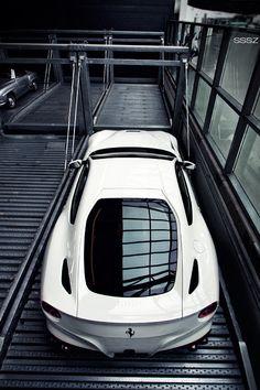Ferrari | black white | sports car | supercar