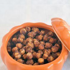 Pumpkin Spice Roasted Chickpeas @keyingredient