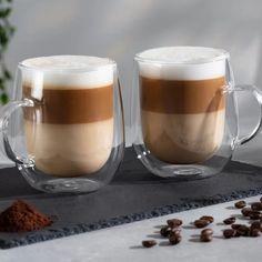Mug Cooks Professional Coffee Mug Display, Coffee Cup Set, Glass Coffee Mugs, Tea Cup Set, Cappuccino Tassen, Cappuccino Cups, Espresso Cups Set, Tapas, Coffee Milkshake