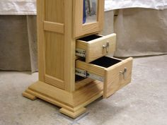 The Butler by Cedar Ridge Woodworkers. This heirloom furniture piece is handcrafted, entryway furniture