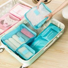 SaicleHome 6 PCS Oxford Travel Waterproof Storage Bag Large Capacity Folding Bag Oxford Container - Newchic Mobile