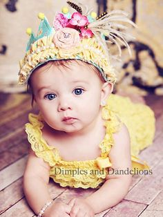 Well Yellow There Crown, perfect for the princess birthday.