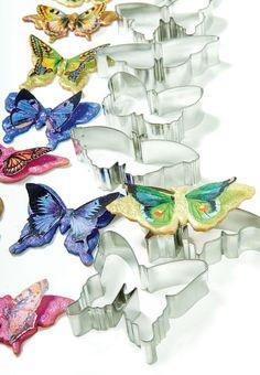 Cookie Cutter Butterflies Set of 7  $12.00 http://www.fancyflours.com/product/Cookie-Cutter-Butterflies-Set-of-7-Tin/s
