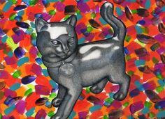 "Saatchi Art Artist daniel levy; Painting, ""Monopoly Cat"" #art"
