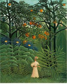 Henri Rousseau - Femme se promenant dans une forêt exotique (1905)