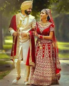 New Panjabi clubs and sardarji love marriage Sikh Wedding Dress, Wedding Dresses Men Indian, Indian Wedding Bride, Sikh Bride, Indian Bride And Groom, Punjabi Wedding, Indian Weddings, Wedding Wear, Indian Wedding Couple Photography