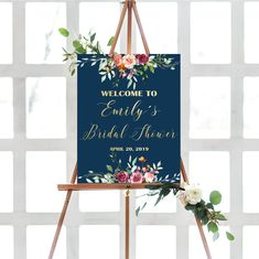 Items similar to Floral Burgundy Navy Bridal shower welcome sign, printable bridal shower welcome sign, bridal shower decorations on Etsy Bridal Shower Welcome Sign, Bridal Shower Signs, Bridal Shower Decorations, Navy Bridal Shower, Menu Template, Print And Cut, Printing Services, Special Day, Wedding Ceremonies