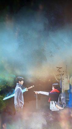 Goblin lockscreens credit to original maker. Goblin Korean Drama, Korean Drama Best, Goblin Lockscreen, Live Action, Buckwheat Flower, Goblin The Lonely And Great God, Goblin Art, Goblin Gong Yoo, Yoo Gong