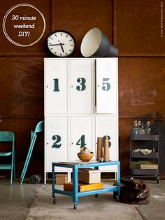 Create industrial storage at home with this fun DIY project using IKEA PS cabinets as seen on the Bright Bazaar blog!